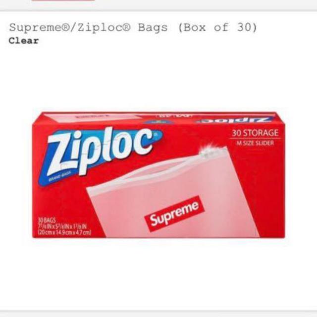 Supreme(シュプリーム)のSupreme Ziploc ジップロック 30枚入り1箱 BOX メンズのファッション小物(その他)の商品写真