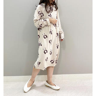 gelato pique - パンダ柄ドレス ワンピース ベージュ 限定品◆ジェラートピケ 新品未使用