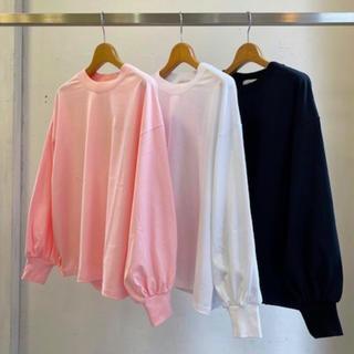 ハイク(HYKE)のHYKE ロングスリーブTシャツ ピンク サイズ1(Tシャツ(長袖/七分))