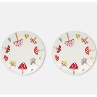 Cath Kidston - 新品未使用 キャスキッドソン きのこ お皿 二枚セット プレート キノコ