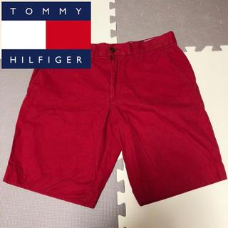 トミーヒルフィガー(TOMMY HILFIGER)のTOMMY トミー ハーフパンツ ショートパンツ 赤 レッド(ショートパンツ)