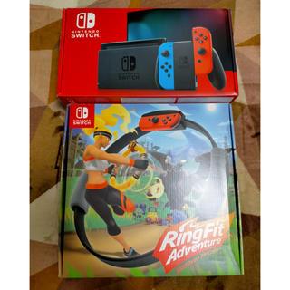 ニンテンドースイッチ(Nintendo Switch)のswitch ネオン、リングフィットDL版(家庭用ゲーム機本体)