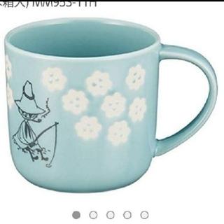 リトルミー(Little Me)の新品 木箱入りマグカップ★  スナフキン ブルー マグ 箱付き ムーミン(グラス/カップ)