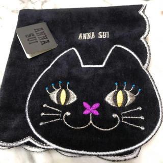 アナスイ(ANNA SUI)のアナスイ黒猫ハンカチ新品(ハンカチ)