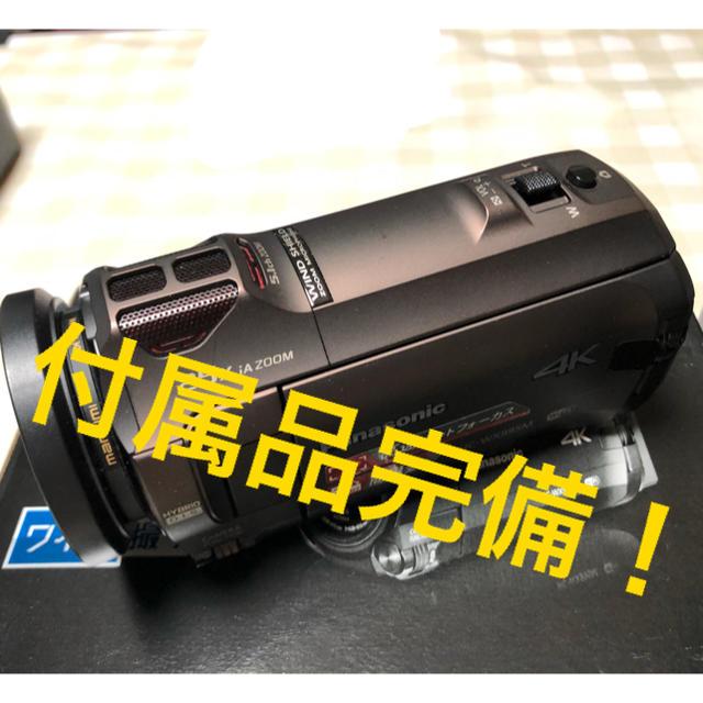 Panasonic(パナソニック)のPanasonic HC-WX995M   ビデオカメラ  付属品完備 スマホ/家電/カメラのカメラ(ビデオカメラ)の商品写真