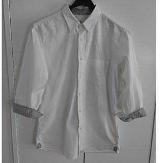 ハレ(HARE)のHARE メンズ コットンシャツ 七分袖(シャツ)