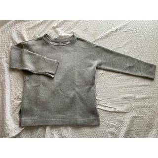 ムジルシリョウヒン(MUJI (無印良品))の無印良品 綿混二重編みプルオーバー ライトグレー(トレーナー/スウェット)