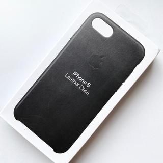 Apple - 【新品】アップル純正 iPhone 7 / 8 / SE レザーケース ブラック