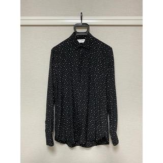 サンローラン(Saint Laurent)のサンローラン ドットシャツ シルク 36 ブラック 国内正規品(シャツ)