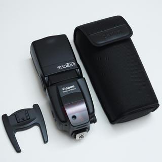 キヤノン(Canon)のcanon スピードライト 580EX Ⅱ 専用ケースとスタンドセット(ストロボ/照明)