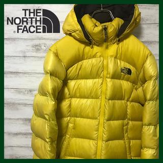 THE NORTH FACE - ノースフェイス ★ダウンジャケット 700フィル 刺繍ロゴ イエロー