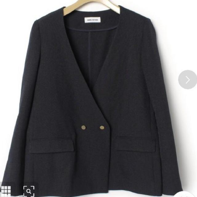 IENA(イエナ)のEMMEL REFINES ノーカラージャケット レディースのジャケット/アウター(ノーカラージャケット)の商品写真