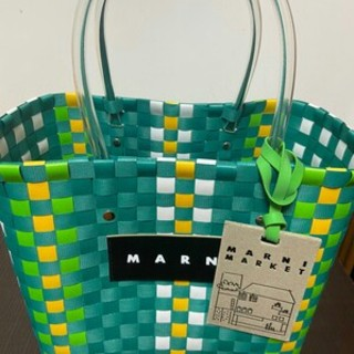 Marni - 大容量 MARNI  ピクニックバッグ 新品 未使用 かごバッグ グリーン