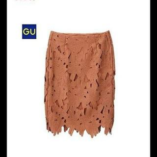 ジーユー(GU)の【値下げ】GU ジーユー レースタイトスカート レーススカート(ひざ丈スカート)