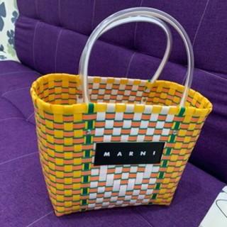 Marni - 大容量 マルニ ピクニックバッグ 新品 未使用 かごバッグ 黄色