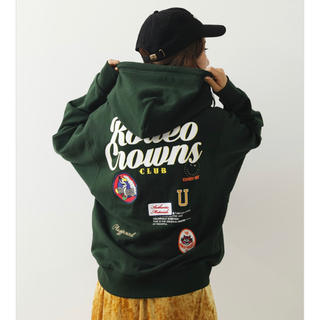 RODEO CROWNS WIDE BOWL - ロデオ★MIX PATCH HOODIE【D/GRN】