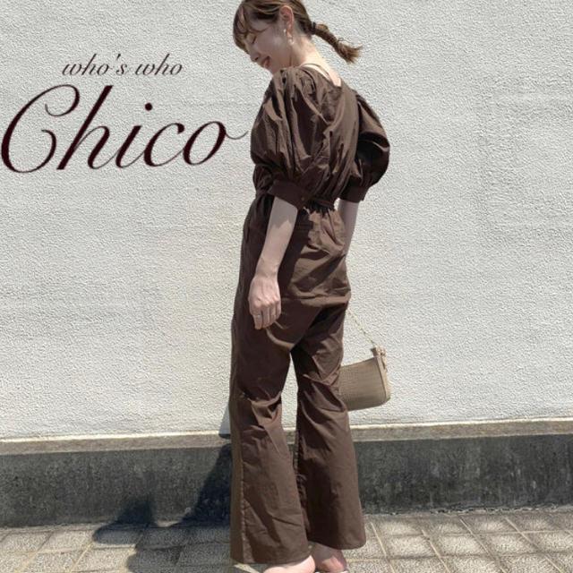 who's who Chico(フーズフーチコ)の新作完売¥7590【Chico】パワショルコンビネゾン BR レディースのパンツ(オールインワン)の商品写真