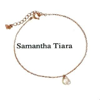 サマンサティアラ(Samantha Tiara)のサマンサティアラ K10 ローズクォーツブレスレット(美品)(ブレスレット/バングル)