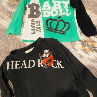 ベビードール(BABYDOLL)のbaby doll&HEAD ROCKロンT2枚セット900円(Tシャツ/カットソー)