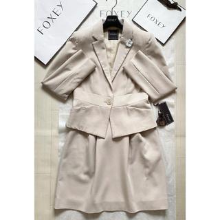 フォクシー(FOXEY)の紙タグあり✨FOXEY Lady Vジャケット&スカート40(スーツ)