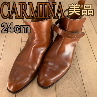 カルミナ メンズ ショートブーツ サイドゴアブーツ 24センチ(ブーツ)