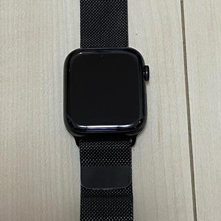 アップルウォッチ(Apple Watch)のApple Watch 5 ブラック ステンレス 44mm Milanese(スマートフォン本体)