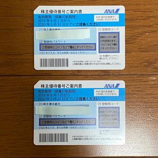 ANA(全日本空輸) - 送料込 ANA 株主優待券 2枚 番号通知可 11月30日まで