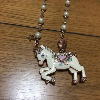 アナスイ(ANNA SUI)のアナスイ、ペガサスピンクゴールドネックレス美品(ネックレス)