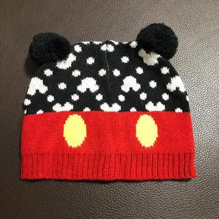 Disney - ミッキーマウス ニット ベビー帽子