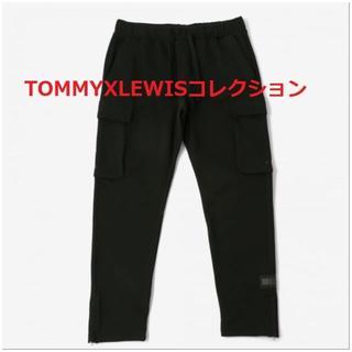 トミーヒルフィガー(TOMMY HILFIGER)のスウェット仕立てのカーゴパンツ ブラック TOMMY HILFIGER(ワークパンツ/カーゴパンツ)