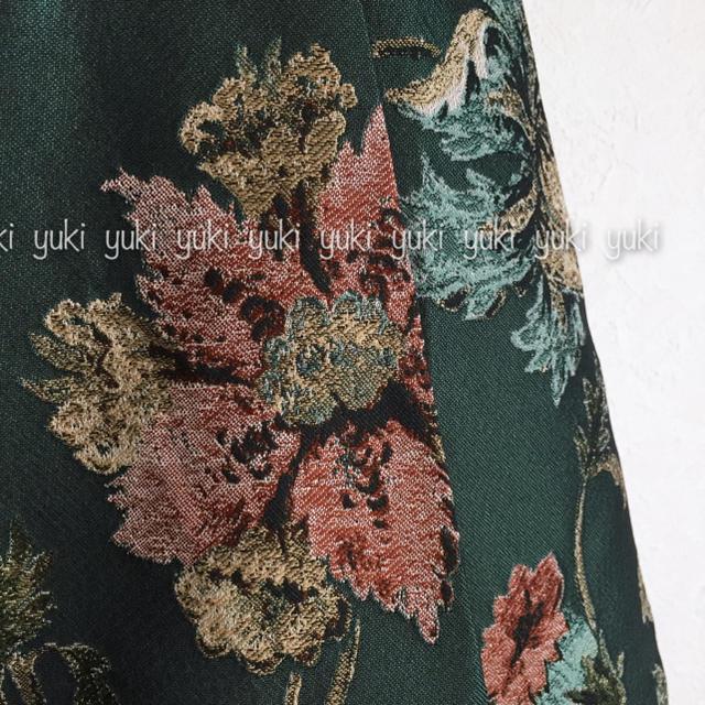 ANAYI(アナイ)のANAYI フラワージャガードタックワンピース レディースのスカート(ひざ丈スカート)の商品写真
