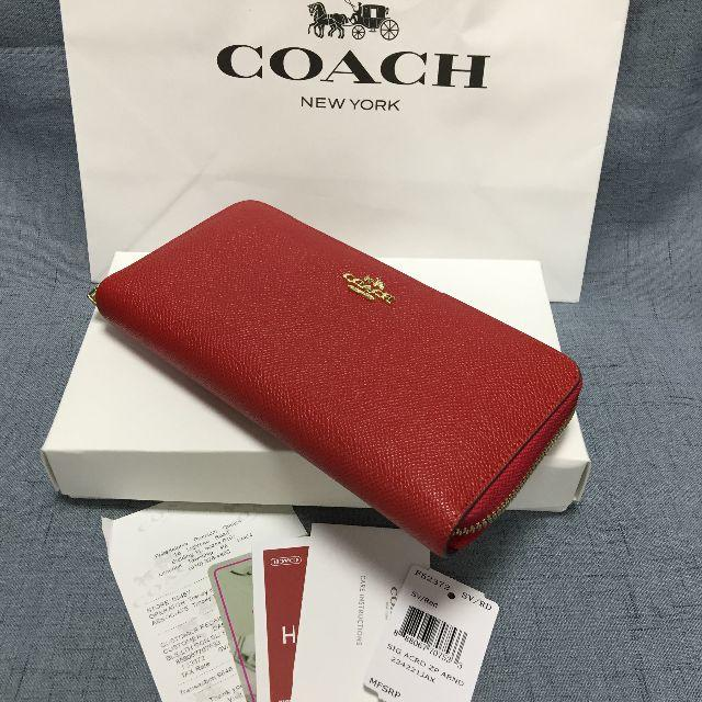 COACH(コーチ)の[新品未使用] COACH コーチ 長財布 F52372  レッド レディースのファッション小物(財布)の商品写真