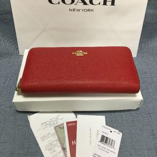 COACH - [新品未使用] COACH コーチ 長財布 F52372  レッド
