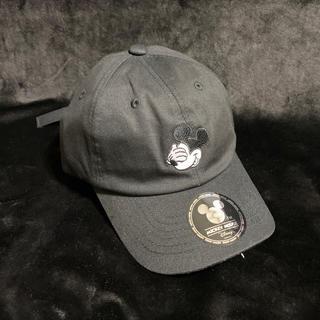 ディズニー(Disney)の新品 ディズニー キャップ 帽子 ミッキー  ローキャップ 黒 ブラック(キャップ)