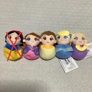 ディズニー(Disney)のディズニープリンセス ぽてぽておてだまマスコット 4点セット(キャラクターグッズ)