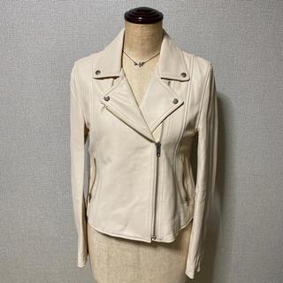 アンレリッシュ(UNRELISH)の新品 定価48180円 UNRELISH ライダースジャケット ライダース 白(ライダースジャケット)