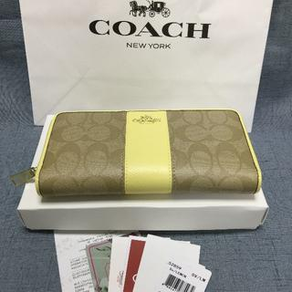 COACH - 新品 COACH長財布 コーチ  F52859   イエロー  小銭入れあり