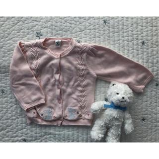 ベビーギャップ(babyGAP)のbaby GAP☆うさぎの刺繍付きカーディガン(カーディガン/ボレロ)