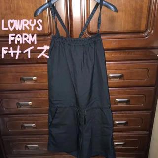 ローリーズファーム(LOWRYS FARM)の【LOWRYS FARM】 オールインワン サロペット 黒 ブラック(F)(サロペット/オーバーオール)