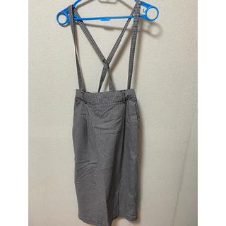 ローリーズファーム(LOWRYS FARM)のギンガムチェックサロペットスカート(サロペット/オーバーオール)