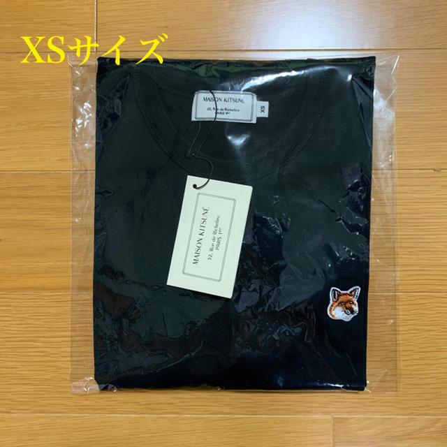 MAISON KITSUNE'(メゾンキツネ)のメゾンキツネ フォックスヘッドパッチ Tシャツ 黒 XSサイズ メンズのトップス(Tシャツ/カットソー(半袖/袖なし))の商品写真