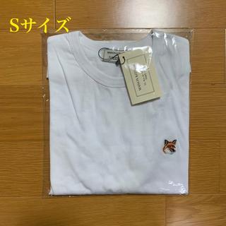 メゾンキツネ(MAISON KITSUNE')のメゾンキツネ フォックスヘッドパッチ Tシャツ 白 Sサイズ(Tシャツ/カットソー(半袖/袖なし))