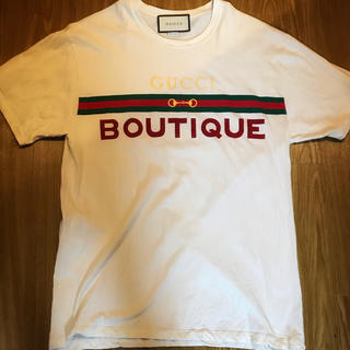 Gucci - GUCCI BOUTIQUE 白 Tシャツ プリント オーバーサイズ グッチ