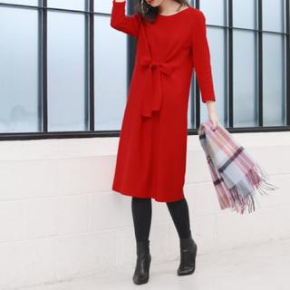 ANAYI - 新品 タグ付き♪ アナイ wool100%素材のワンピース レッド系 大特価❣️