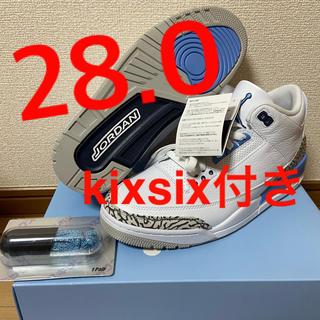 """ナイキ(NIKE)の【28.0】NIKE AIR JORDAN 3 RETRO """"UNC"""" (スニーカー)"""