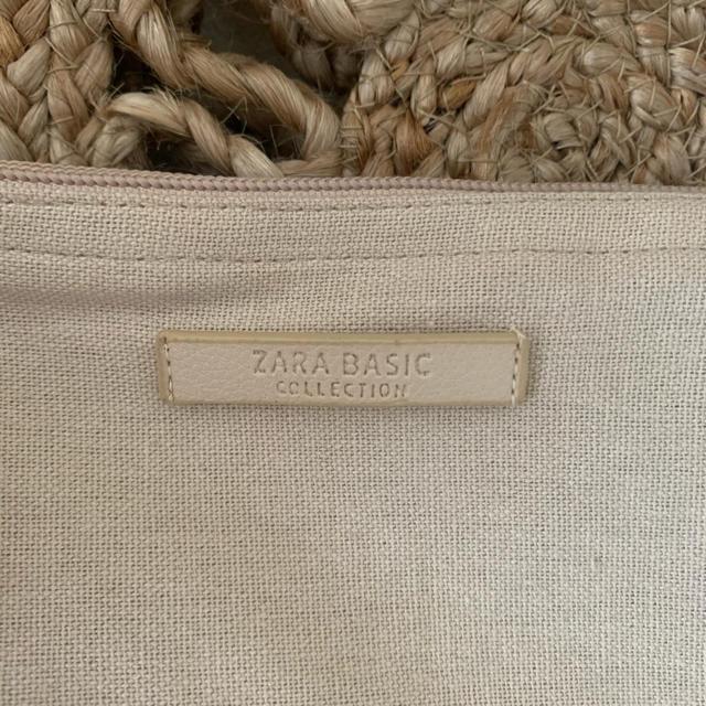 ZARA(ザラ)のZARA サークル バック 新品同様 麻素材 レディースのバッグ(かごバッグ/ストローバッグ)の商品写真