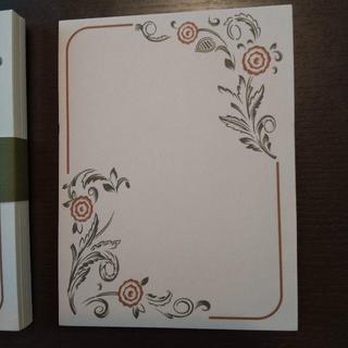 N07-5 海外 メモ帳 30枚 緑 ボタニカル 素材 レトロ 紙もの メモ(その他)