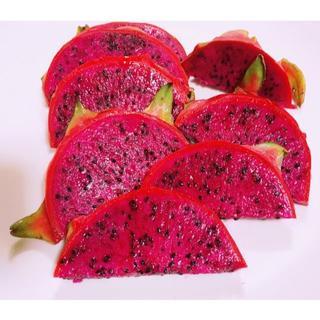 再入荷!甘い!沖縄産 無農薬ドラゴンフルーツ レッド 赤果肉 1.5kg(フルーツ)