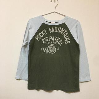 デニムダンガリー(DENIM DUNGAREE)のデニム&ダンガリー★ラグランインディアン七部袖Tシャツ (140)(145)(Tシャツ/カットソー)