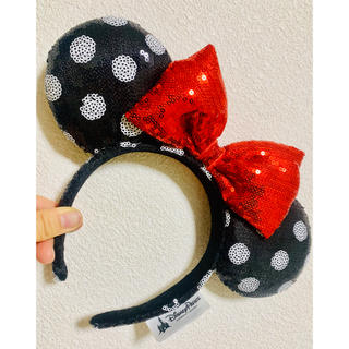 Disney - 海外カチューシャ ドット ミニーちゃん 上海